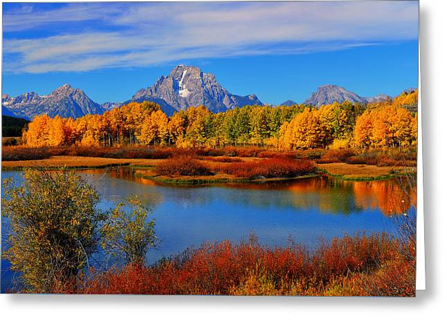 Autumn At The Oxbow Greeting Card