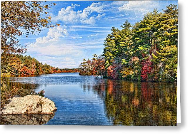Autumn At The Pond Greeting Card