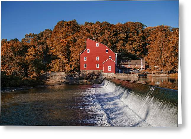 Autumn At The Red Mill - Clinton New Jersey Greeting Card