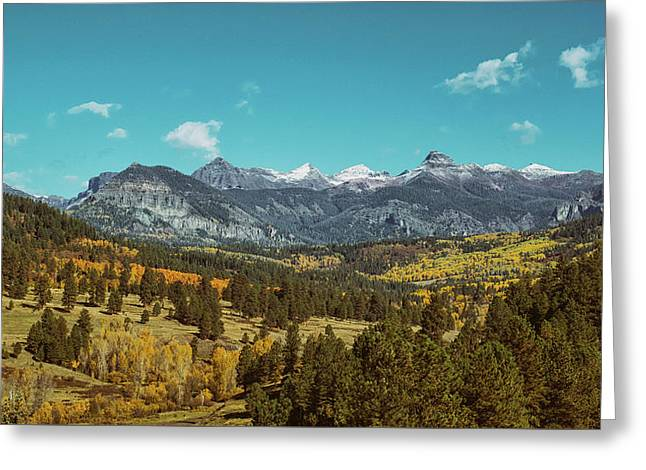 Greeting Card featuring the photograph Autumn At The Weminuche Bells by Jason Coward