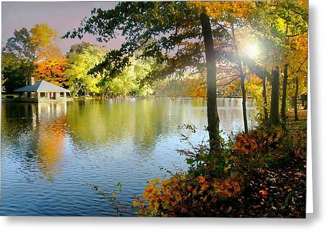 Autumn At Tilley Pond Greeting Card by Diana Angstadt