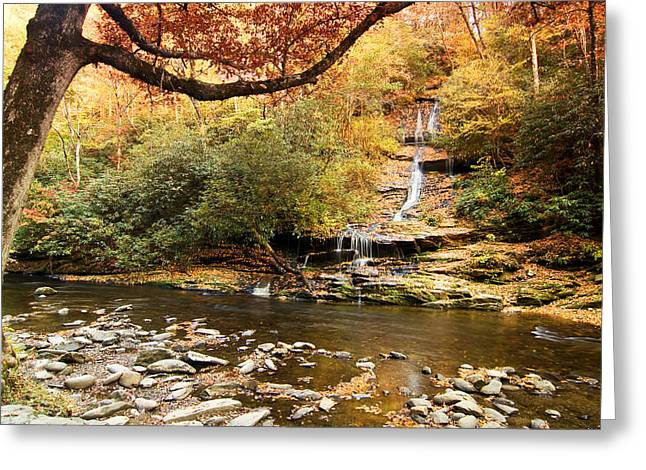 Autumn At Tom Branch Falls  Greeting Card