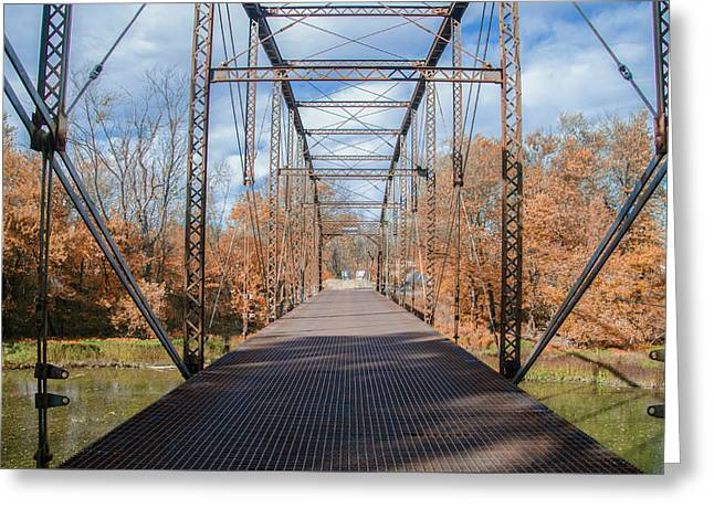 Autumn At Wolfs Bridge - Carlisle Pa Greeting Card by Bill Cannon