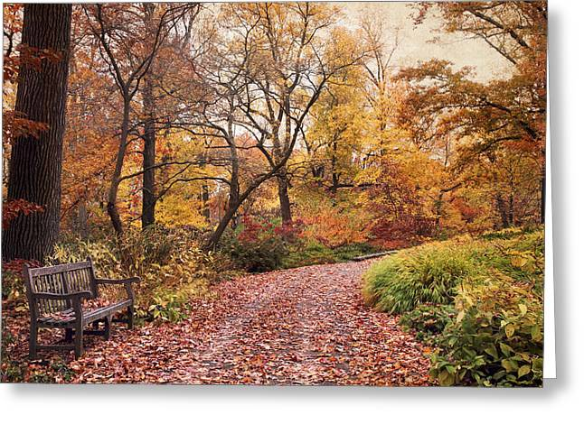 Autumn Azalea Garden Greeting Card