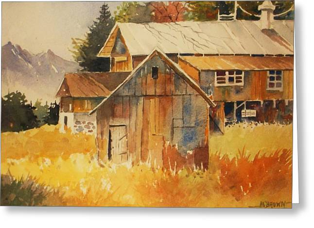 Autumn Barn And Sheds Greeting Card