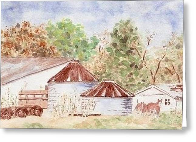 Autumn Barn Greeting Card by Bill Torrington