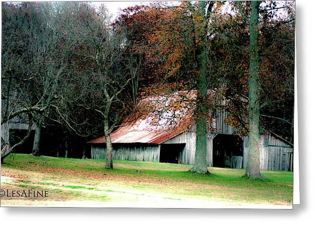 Autumn Barn In Alabama Greeting Card