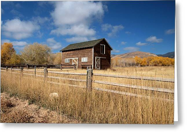 Autumn Barn Greeting Card by Joshua House