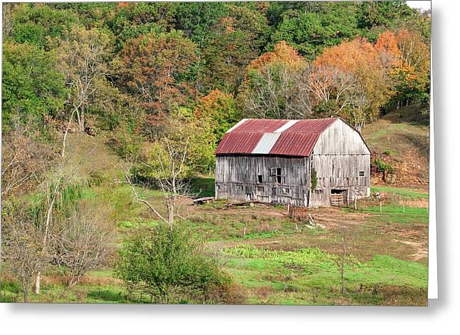 Autumn Barn Greeting Card by Todd Klassy