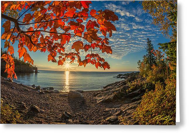 Autumn Bay Near Shovel Point Greeting Card