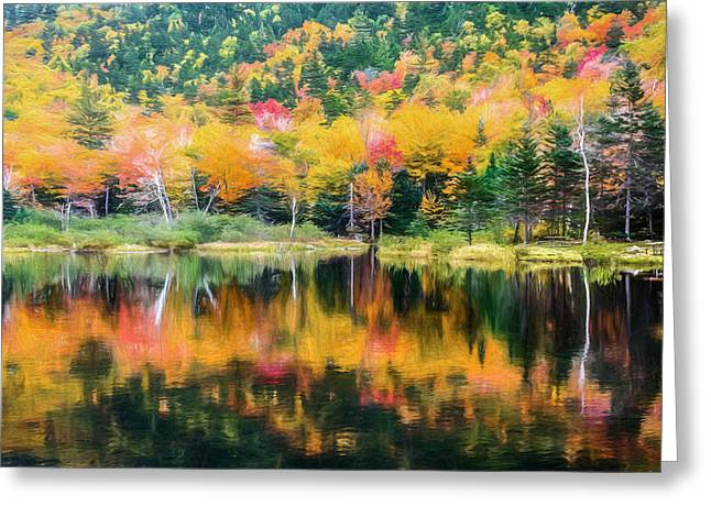 Autumn Beauty Painted Greeting Card by Black Brook Photography
