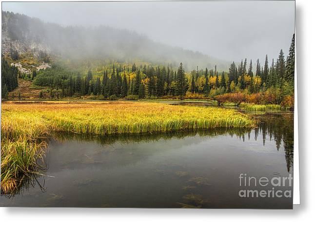 Autumn Begins At Silver Lake Greeting Card