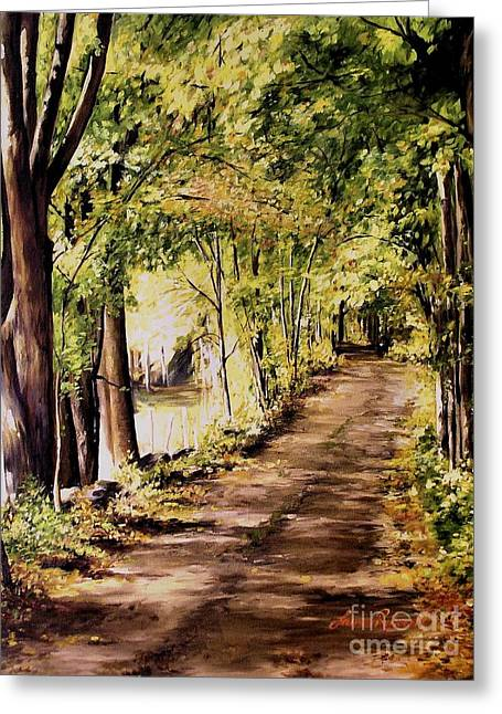 Autumn Begins In Underhill Greeting Card