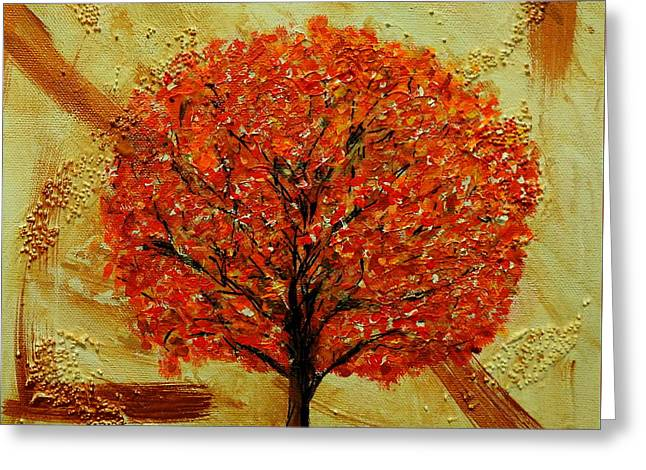 Autumn Greeting Card by Betty-Anne McDonald