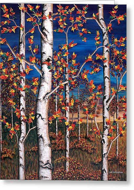 Autumn Birch Forest Greeting Card