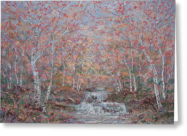 Autumn Birch Trees. Greeting Card