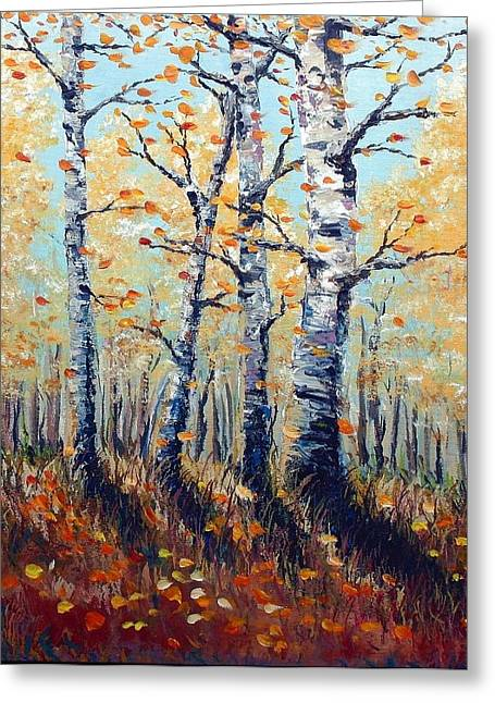 Autumn Birch Greeting Card by Wesley Pack