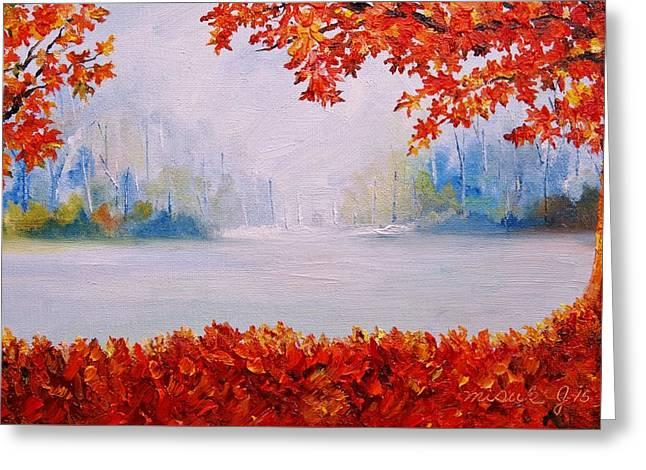 Autumn Blaze Maple Trees Greeting Card