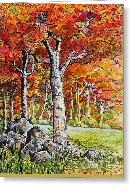 Autumn Bloom Greeting Card by Terry Banderas