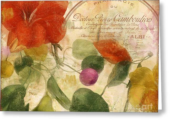 Autumn Botanical Garden Greeting Card by Mindy Sommers