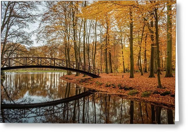 Autumn Bridge Greeting Card