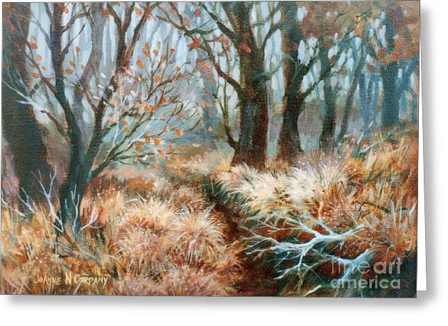 Autumn Brush Greeting Card by JoAnne Corpany