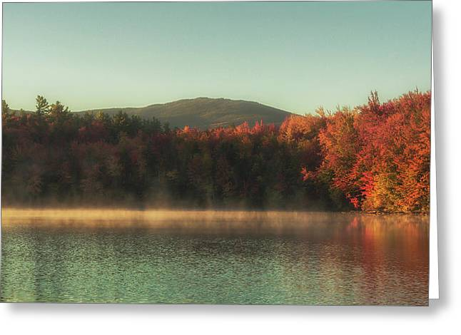 Autumn By The Mountain Lake Greeting Card by Chris Fletcher