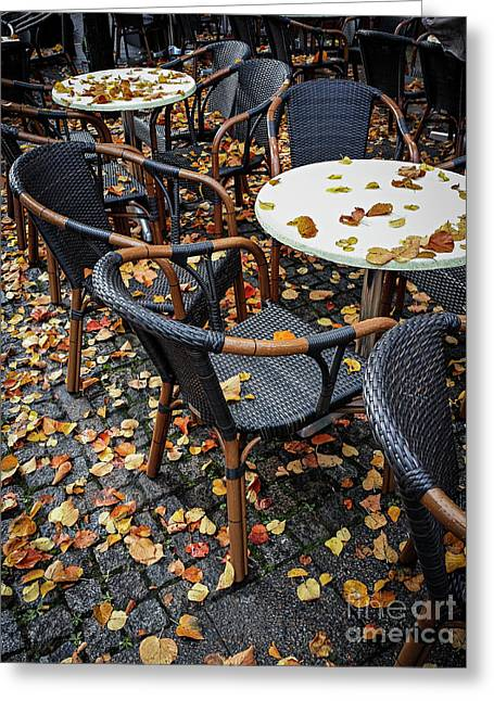 Greeting Card featuring the photograph Autumn Cafe by Elena Elisseeva