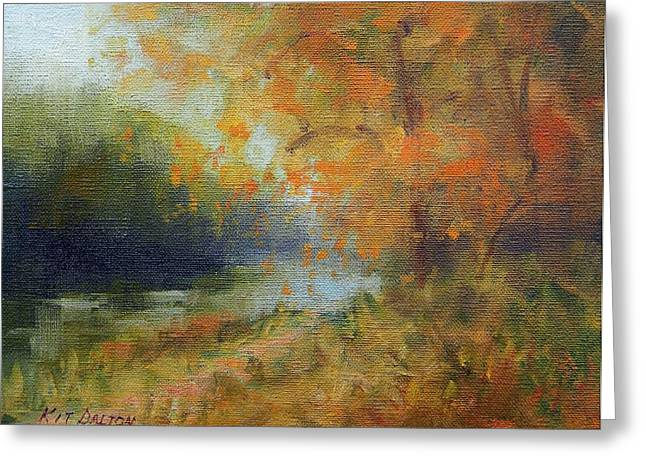 Autumn Canal Greeting Card by Kit Dalton