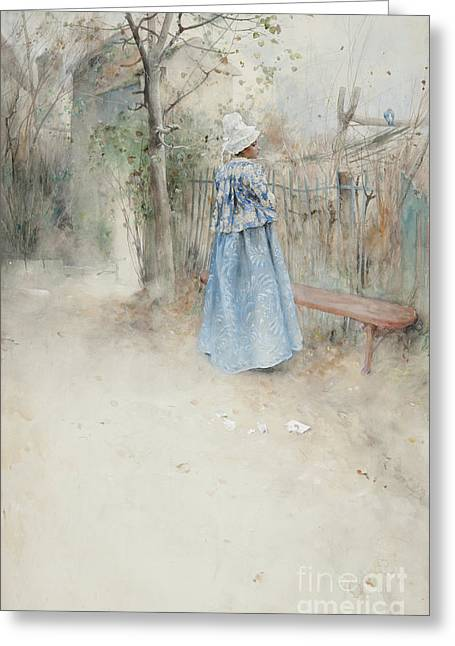 Autumn Greeting Card by Carl Larsson