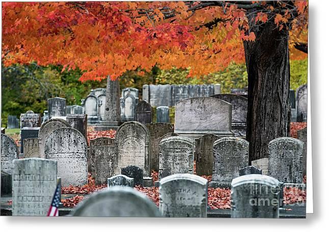 Autumn Cemetery Greeting Card