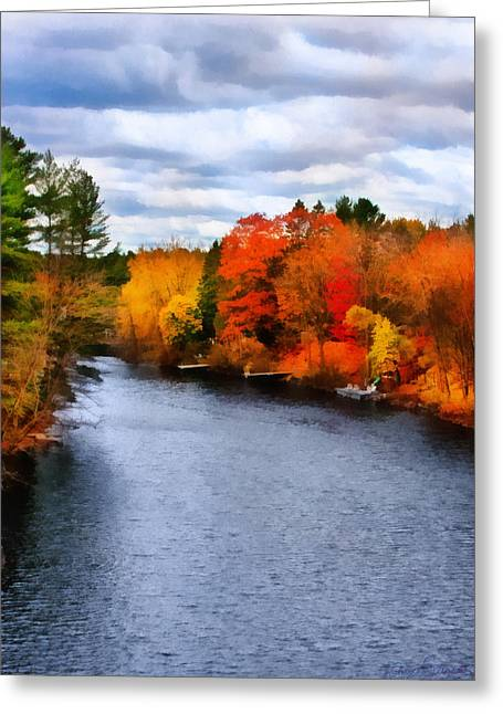 Autumn Channel Greeting Card