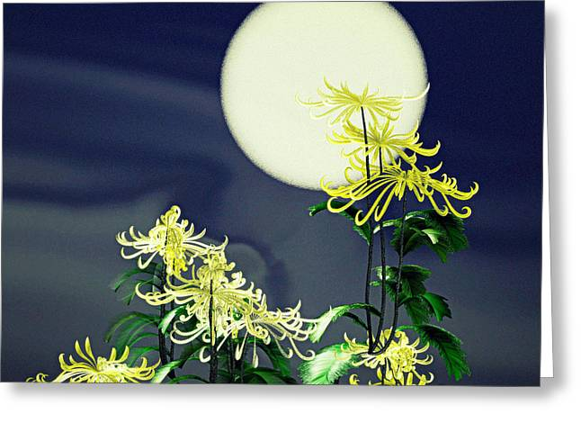 Autumn Chrysanthemums 2 Greeting Card