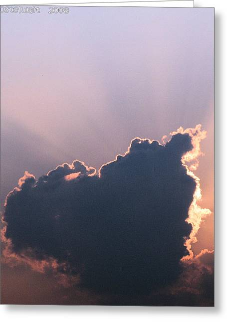 Autumn Cloud Greeting Card by Carolyn Postelwait