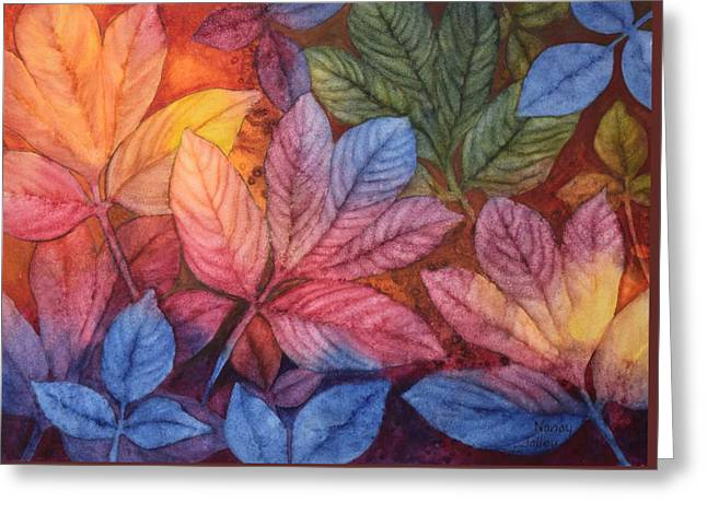 Autumn Color Greeting Card by Nancy Jolley