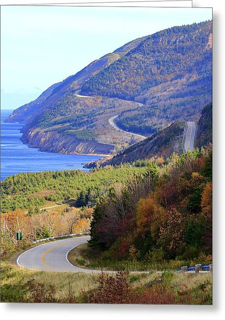 Autumn Color On The Cabot Trail, Cape Breton, Canada Greeting Card