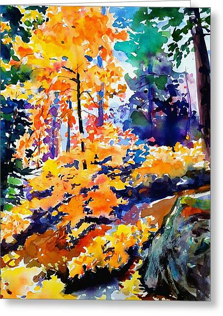 Autumn Colors At Balch Park Greeting Card by Therese Fowler-Bailey