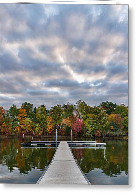 Autumn Colors At The Lake Greeting Card