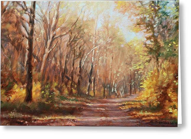 Autumn Colors Greeting Card by Bonnie Mason