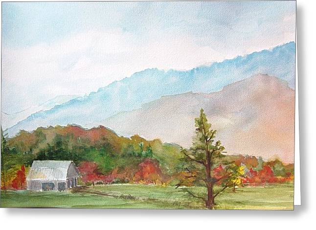 Autumn Colors Greeting Card by Kris Dixon