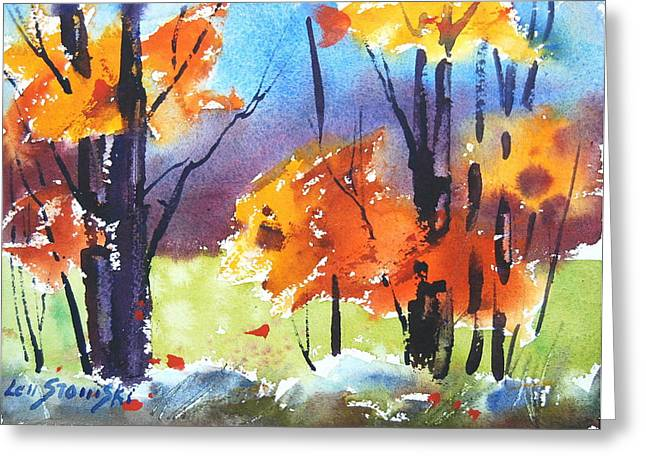 Autumn Colors Greeting Card by Len Stomski