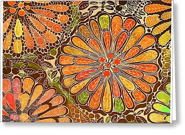 Autumn  Colors Mandalas  Greeting Card