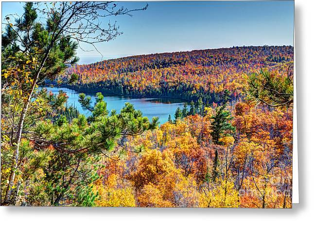 Autumn Colors Overlooking Lax Lake Tettegouche State Park II Greeting Card