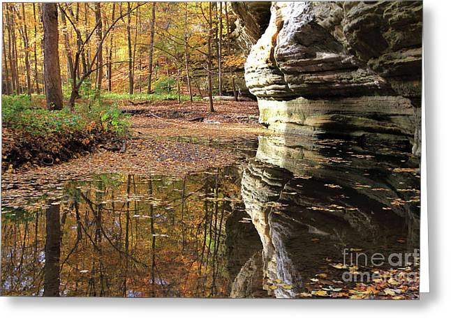Autumn Comes  To Illinois Canyon  Greeting Card