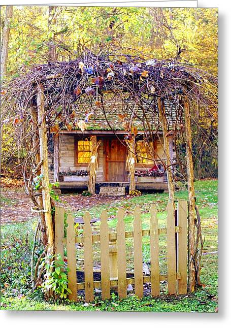Autumn Cottage Greeting Card