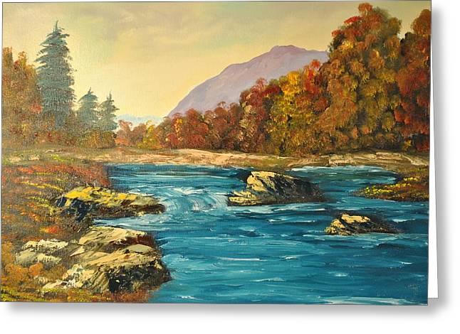 James Higgins Greeting Cards - Autumn Creek Greeting Card by James Higgins