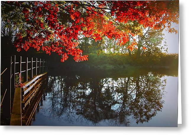Autumn Creek Magic Greeting Card