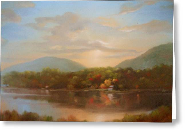 Autumn Creeping In Greeting Card by Kevin Palfreyman