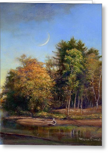 Autumn Crescent Greeting Card