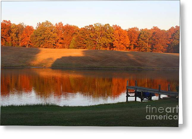 Autumn Day At The Lake Greeting Card